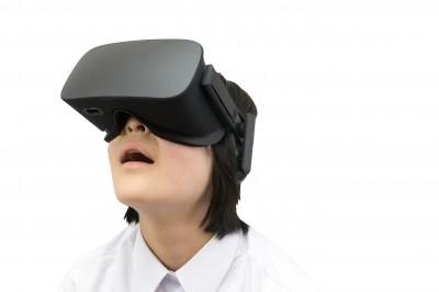 VR体験者の写真